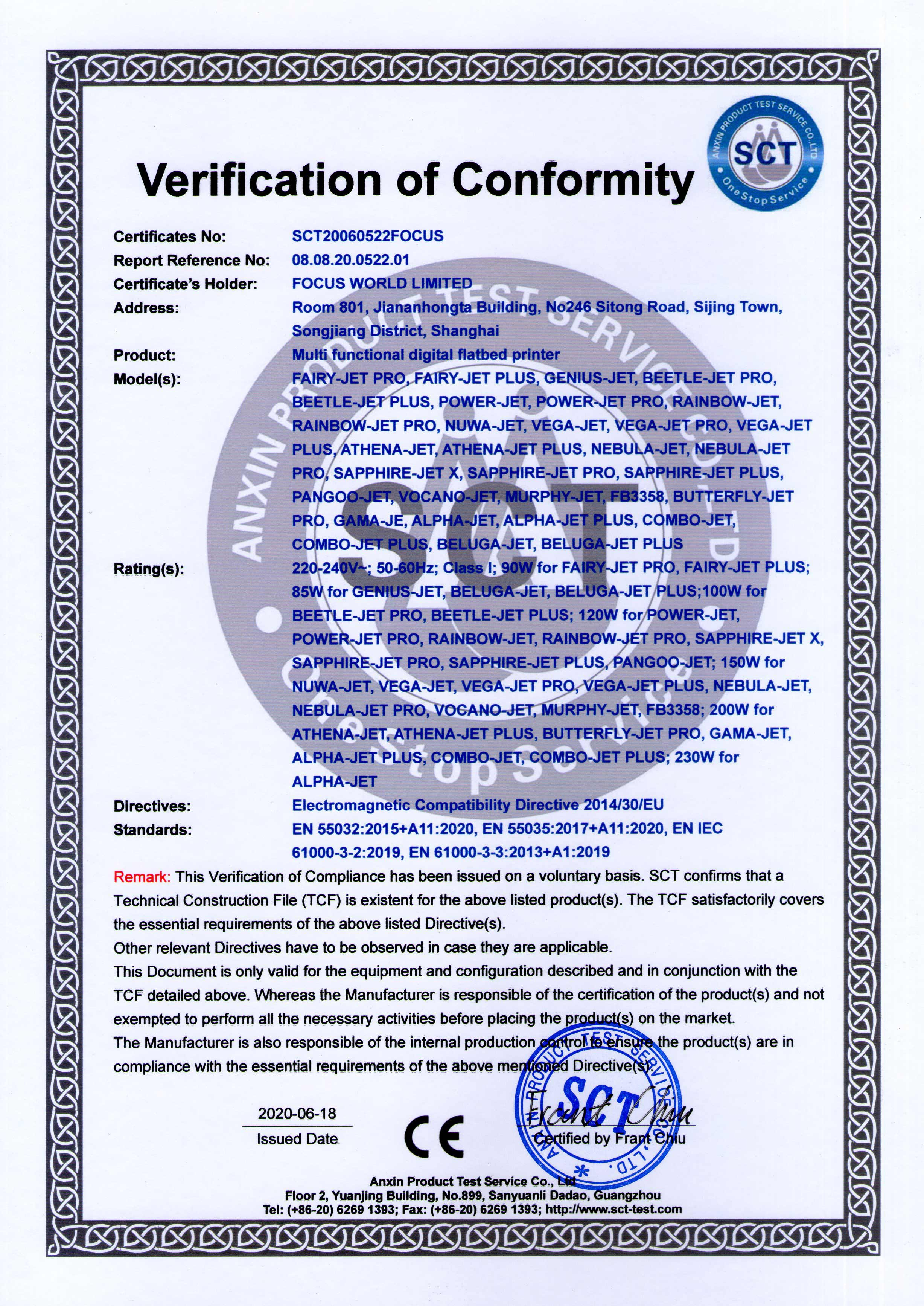 Focus Digital Certificate-CE2